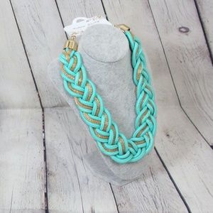 Jewelry - Mint Braided Oversized Necklace in Mint